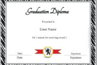 012 Free Printable Diploma Template Ideas Best Of Graduation for Blank Marriage Certificate Template