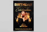 012 Template Ideas Birthday Party Flyer Templates Free Night for 50Th Birthday Flyer Template Free