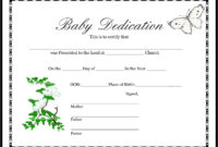 013 Appealing Official Birth Certificate Template Sample with regard to Baby Dedication Certificate Template