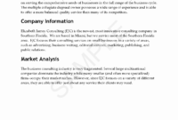 013 Consulting Business Plan Template 20Consulting Company for Business Plan Template For Security Company