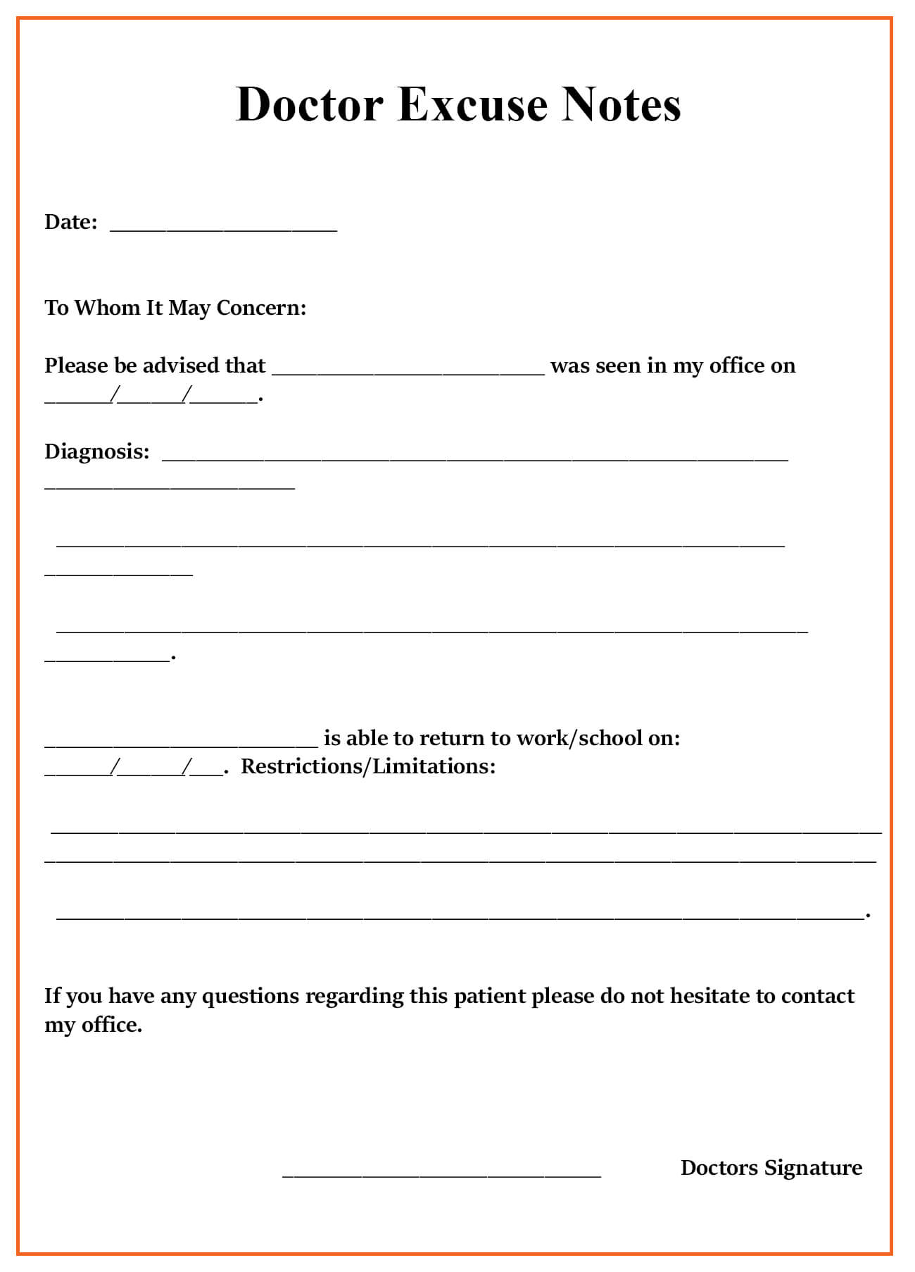 013 Free Printable Doctors Excuse Template For School Dats Within Blank Doctors Note Template