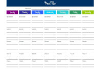 013 Meal Plan Excel Spreadsheet Template Ideas Singular Diet in 21 Day Fix Template