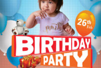 014 Free Microsoft Word Birthday Flyer Templates Template intended for Birthday Party Flyer Templates Free