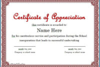 016 Certificate Of Appreciation Templates Free Powerpoint inside Certificate Of Participation Template Ppt