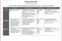 016 Day Action Plan For Sales Manager Business Medical in Business Plan To Increase Sales Template