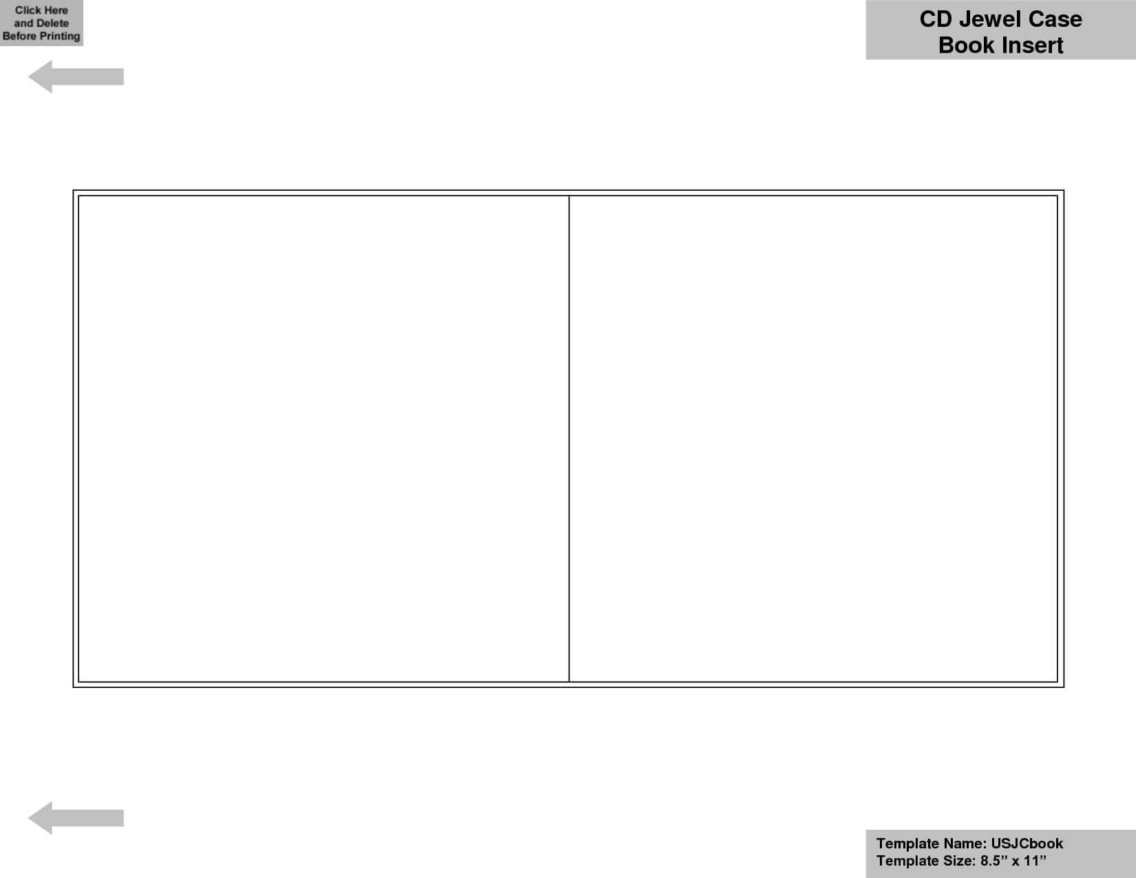016 Template Ideas Printable Sleeve Case Insert Luxury Blank In Blank Cd Template Word