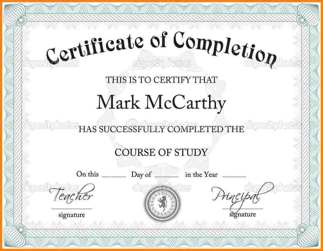 017 Army Certificate Of Achievement Template Microsoft Word With Regard To Army Certificate Of Completion Template