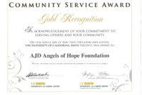 017 Community Service Certificate Template Ideas Years within Certificate For Years Of Service Template