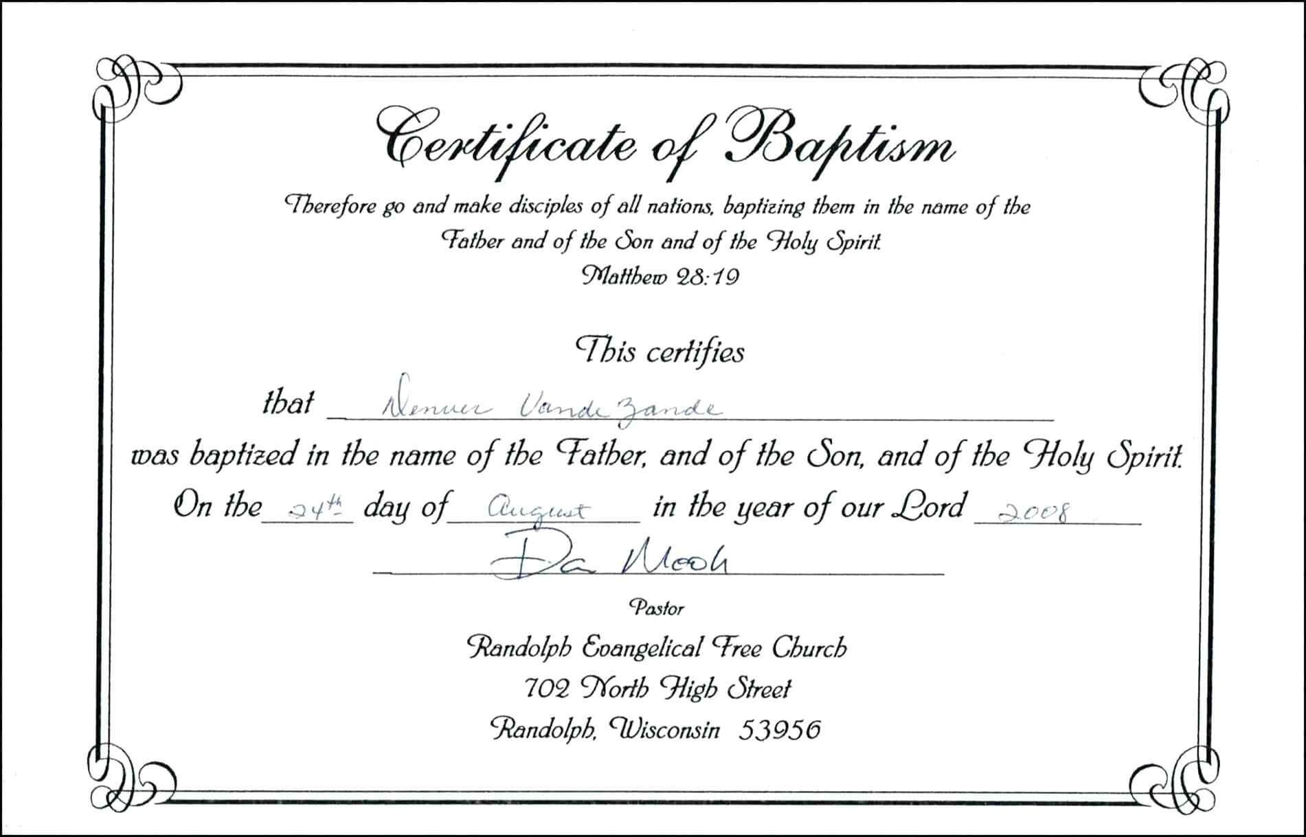 017 Template Ideas For Baptism Certificate Zrom Tk Pdf Baby Within Baptism Certificate Template Word