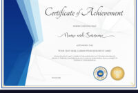 018 Template Ideas Modern Certificate For Achievement Vector regarding Certificate Of Achievement Army Template