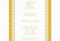 019 80Th Birthday Invitation Templates Template Ideas Sample with 80Th Birthday Invitation Templates