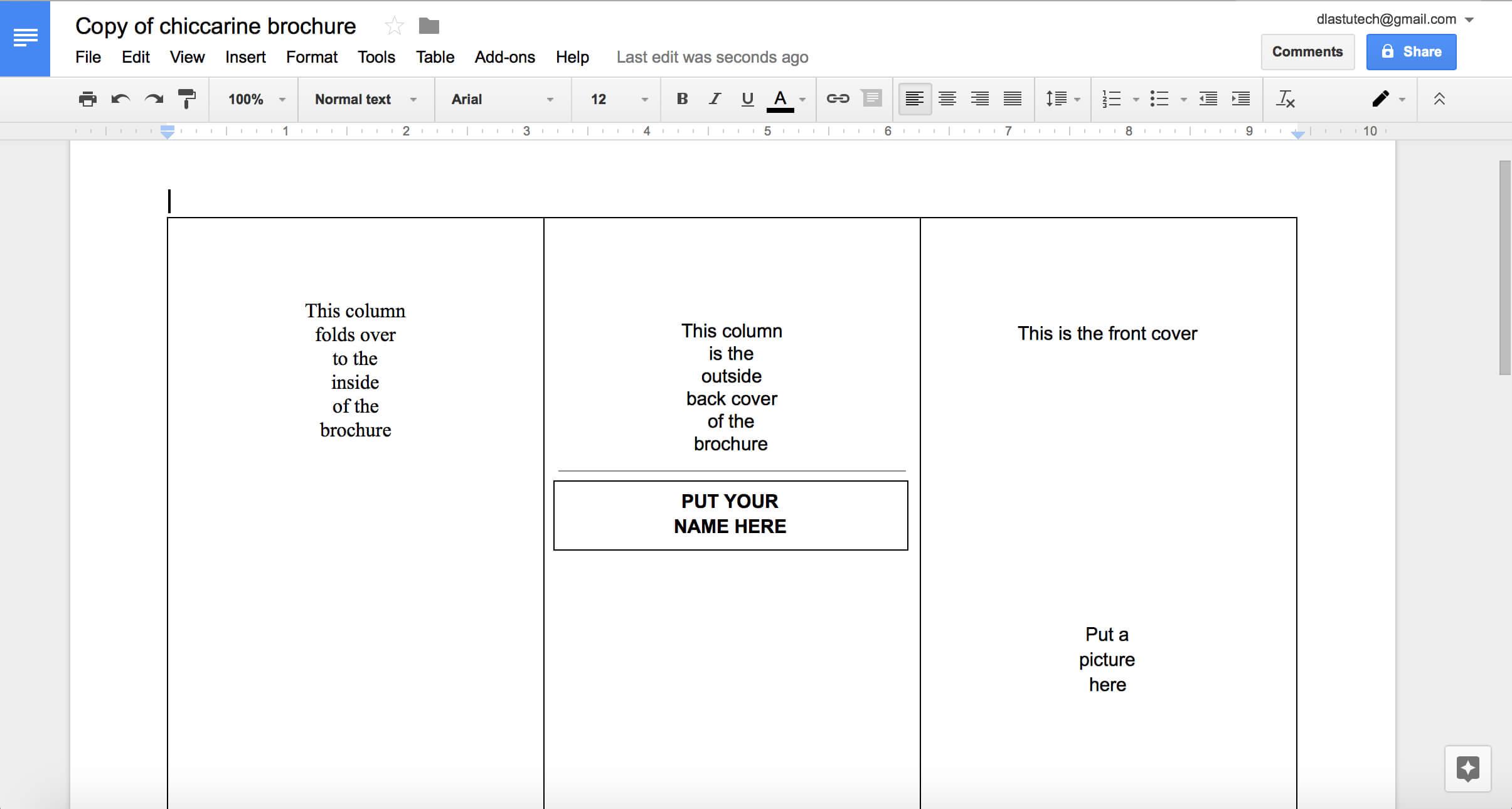 019 Blank Tri Fold Brochure Template Google Slides Ideas Regarding Brochure Template For Google Docs