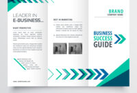 019 Business Tri Fold Brochure Template Design With Vector intended for Brochure Templates Adobe Illustrator