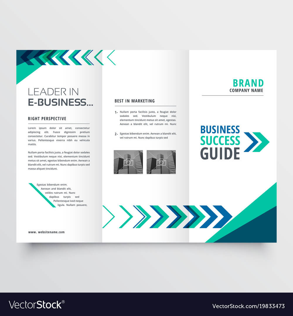 019 Business Tri Fold Brochure Template Design With Vector Throughout Adobe Illustrator Brochure Templates Free Download