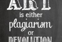 019 Chalkboard Poster Template Free Art Is Plagairism inside Chalkboard Poster Template