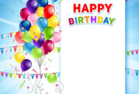 019 Template Ideas Festive Happy Birthday Card Vector Free throughout Birthday Card Publisher Template