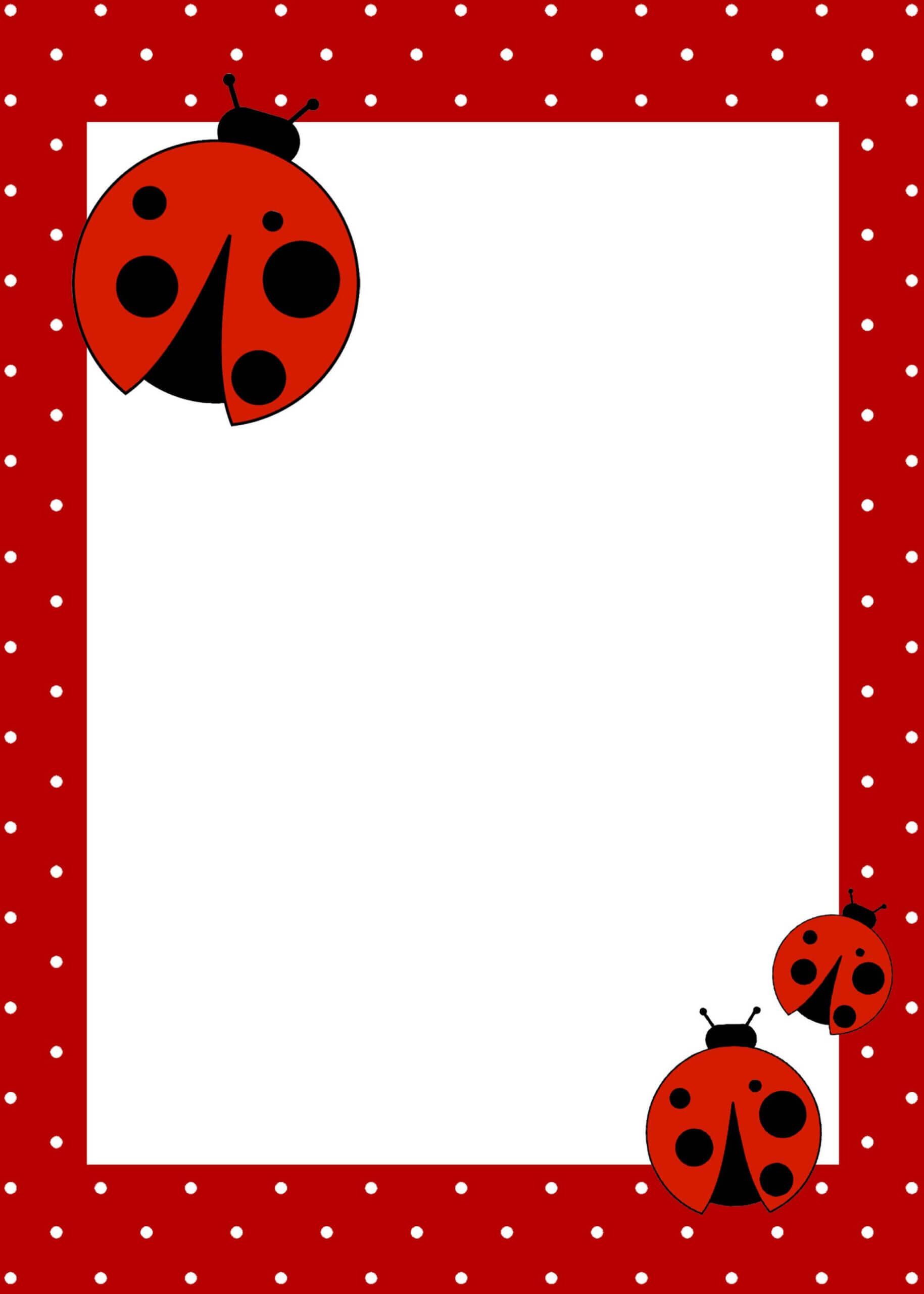 020 1St Birthday Invitation Background Designs Blank For Boy For Blank Ladybug Template