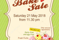 020 Bake Sale Flyers Templates Free Template Ideas intended for Bake Sale Flyer Free Template