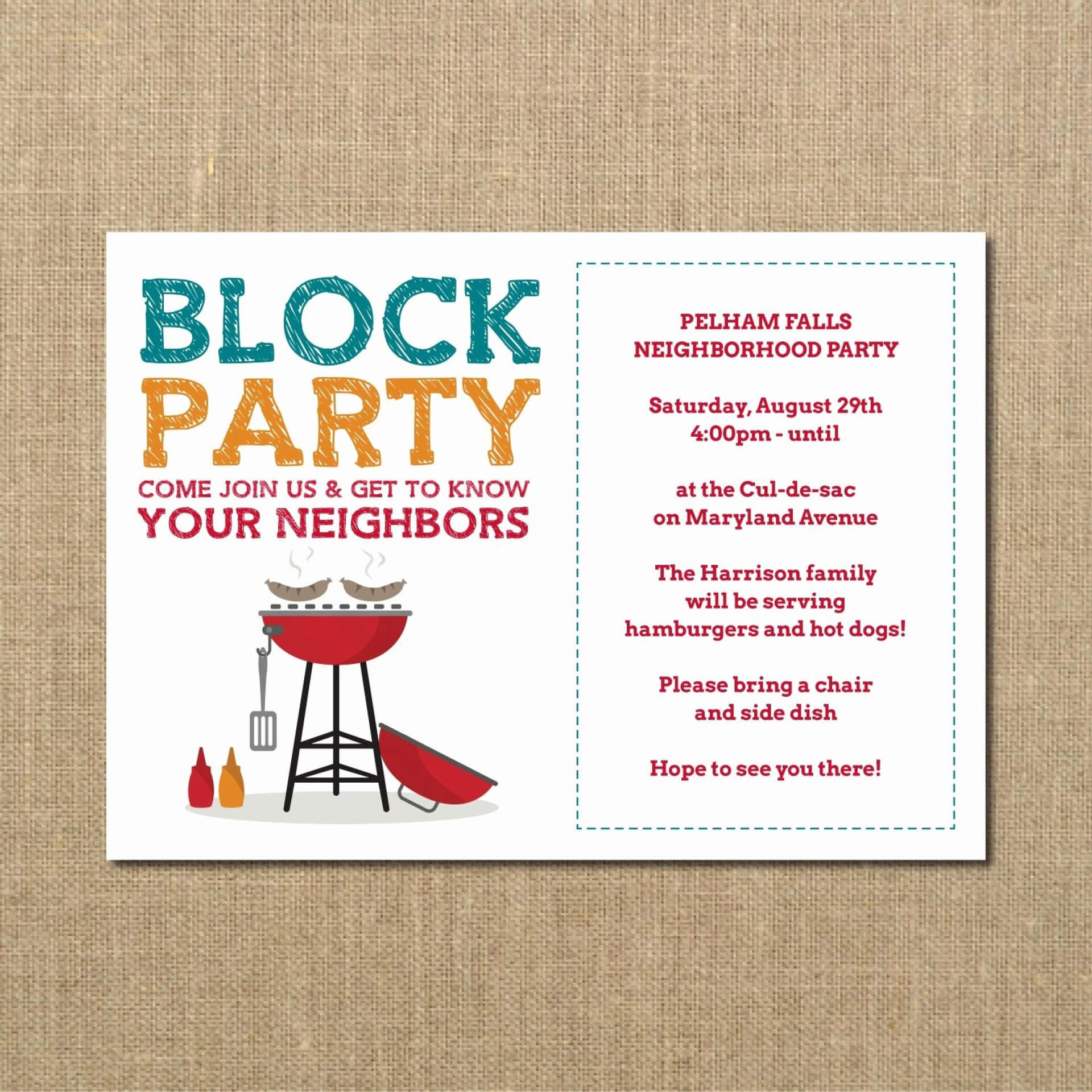 020 Free Block Party Flyer Template Word Independence Day In Block Party Flyer Template
