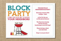 020 Free Block Party Flyer Template Word Independence Day throughout Block Party Template Flyer