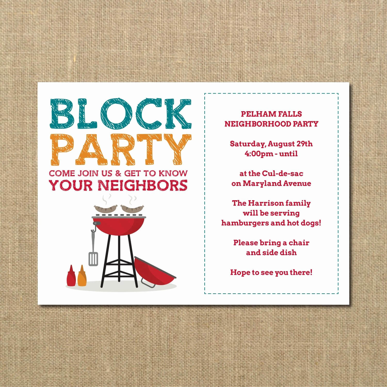 020 Free Block Party Flyer Template Word Independence Day Within Block Party Template Flyers Free