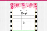 020 Sets Of Free Baby Shower Bingo Cards Pertaining To with regard to Blank Bridal Shower Bingo Template
