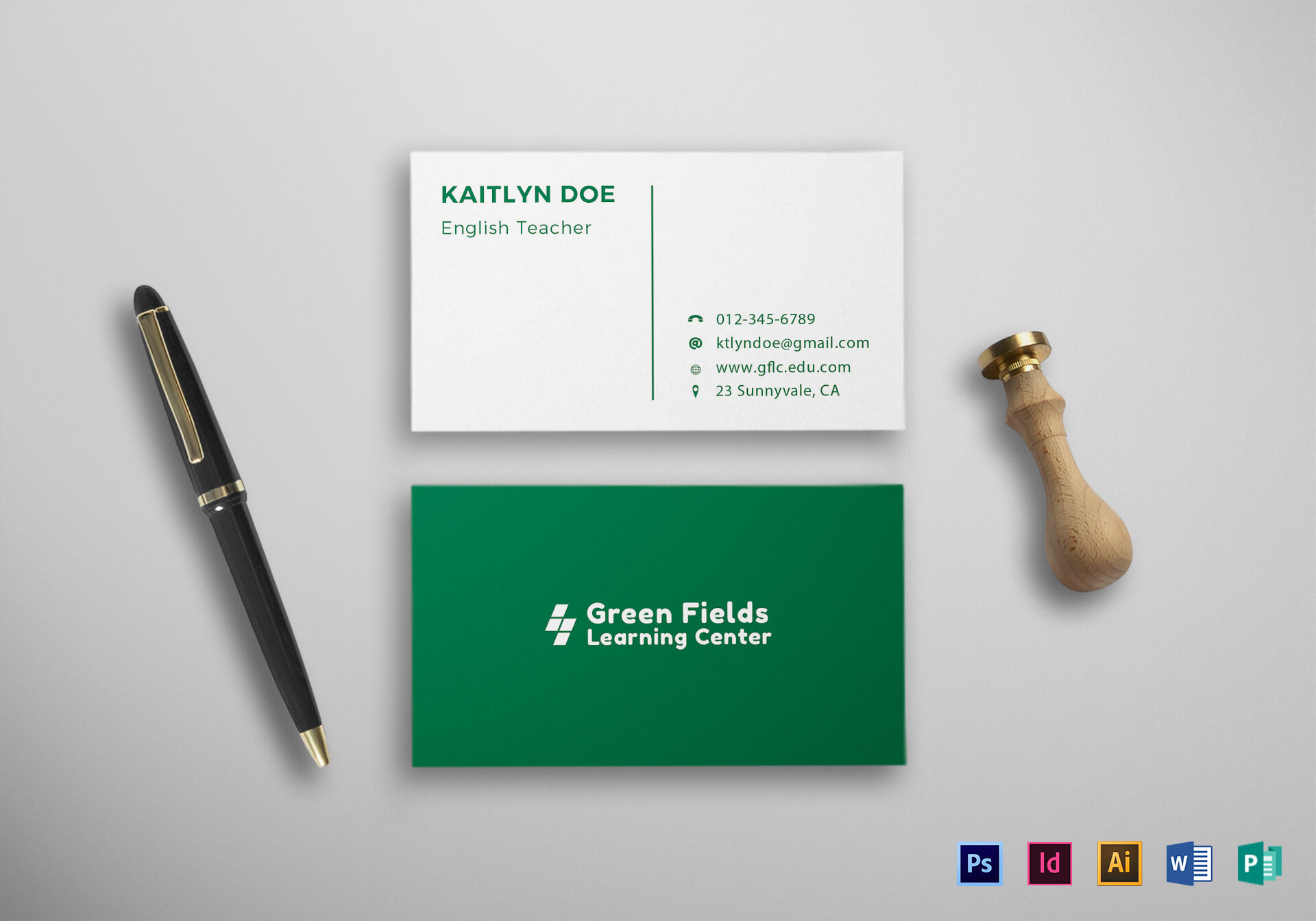 020 Teachers Business Card Mock Up Ms Word Template Free With Business Cards For Teachers Templates Free