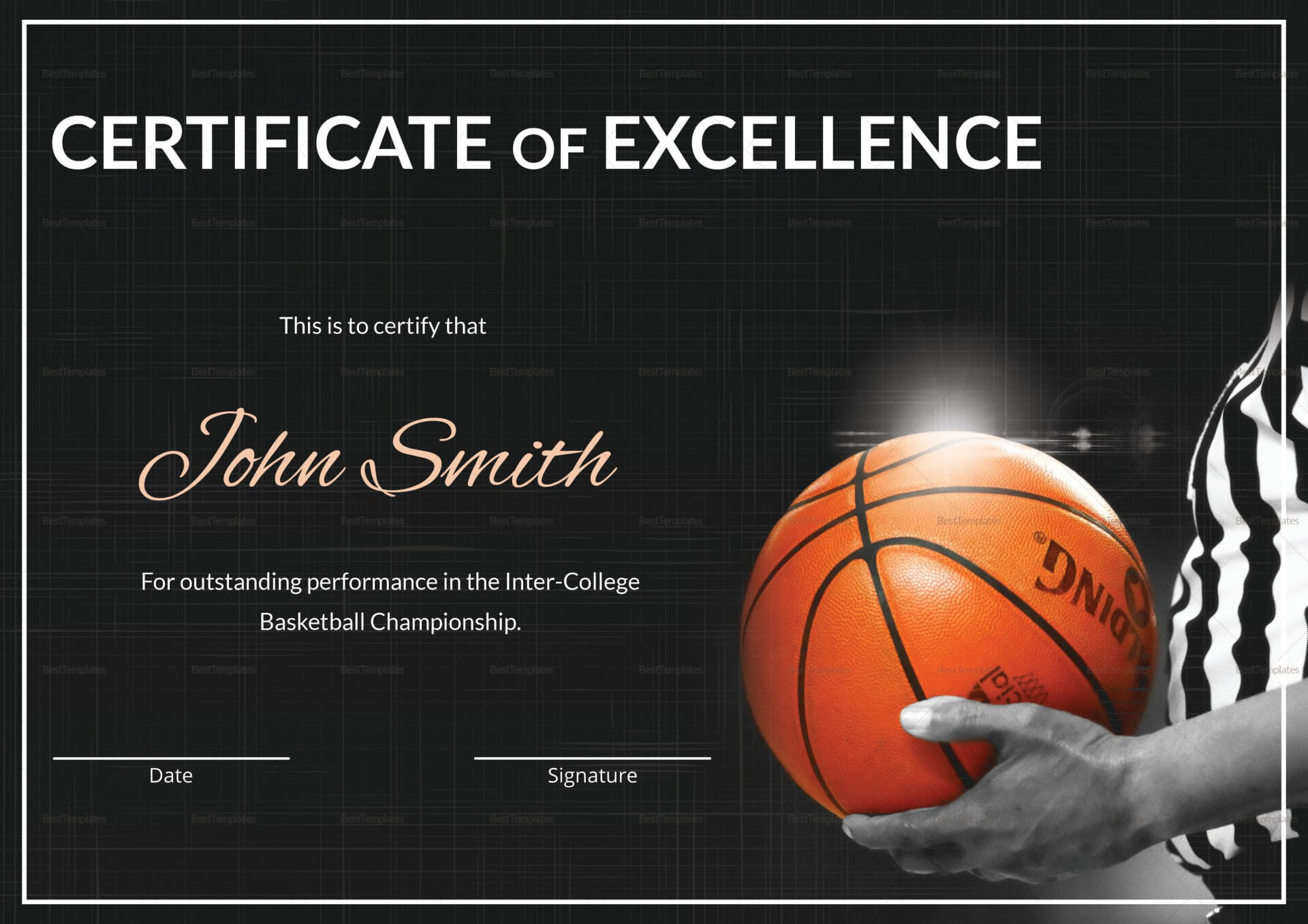 021 Basketball Certificate Award Template Word Awful Ideas With Regard To Basketball Certificate Template