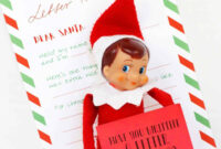 021 Blank Letter From Santa Template Free Ideas Elf On The in Blank Letter From Santa Template