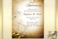 021 Template Ideas 50Th Wedding Anniversary Invitations throughout Anniversary Card Template Word