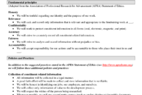 021 Template Ideas Code Of Formidable Ethics Conduct Sample pertaining to Business Ethics Policy Template