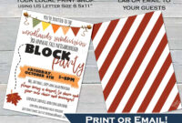 023 Block Party Flyers Templates Template Ideas Retirement intended for Block Party Template Flyers Free