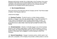 023 Employee Non Compete Agreement Template Ideas Arizona inside Business Templates Noncompete Agreement