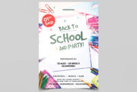 025 Back To School And Party Free Psd Flyer Template regarding Back To School Party Flyer Template