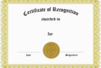 025 Template Ideas Certificate Of Recognition Word Award pertaining to Certificate Of Recognition Word Template