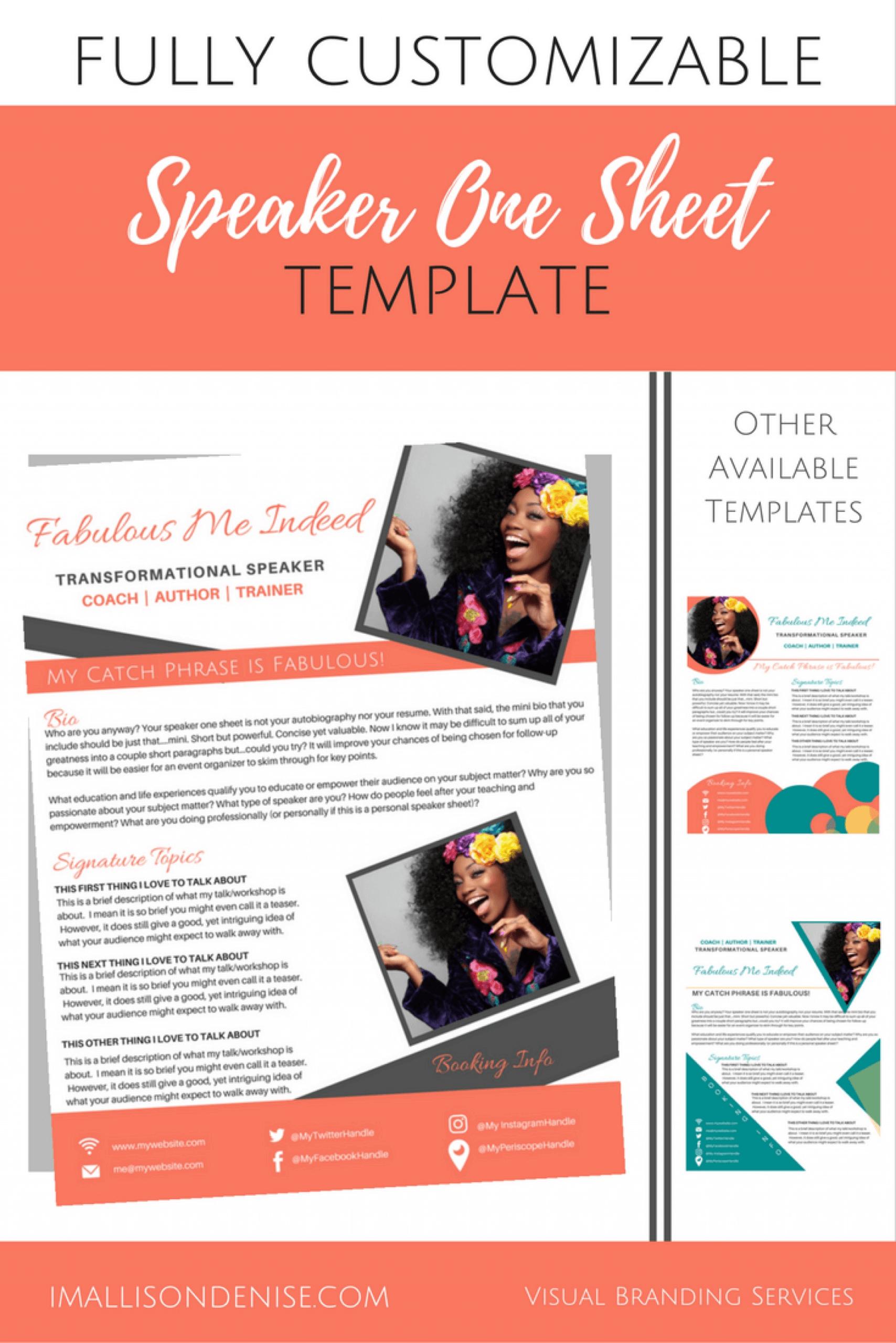 026 Business One Sheet Template Influencer Mediakit Share Regarding Business One Sheet Template