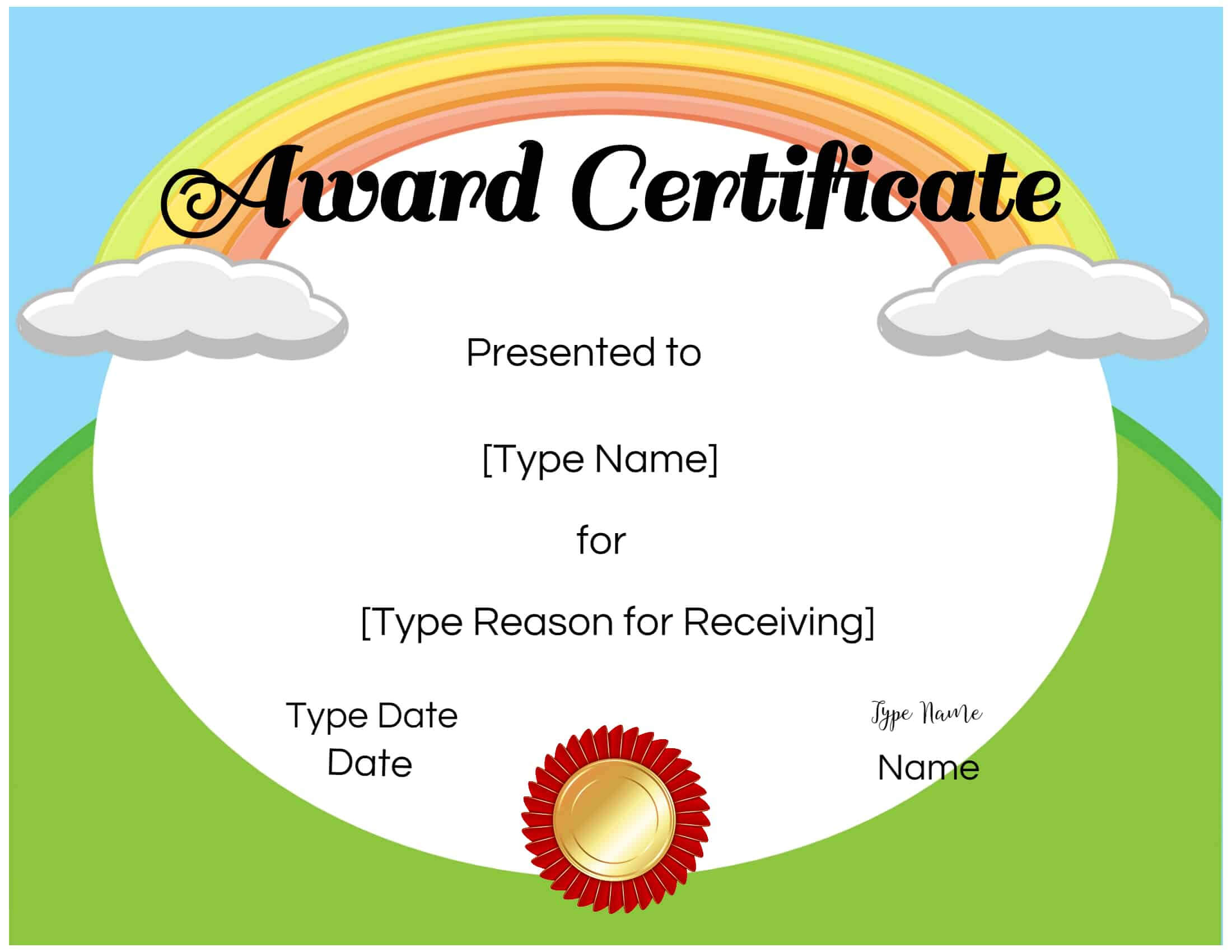 026 Free Templates For Certificates Certificate Kids Throughout Certificate Of Achievement Template For Kids
