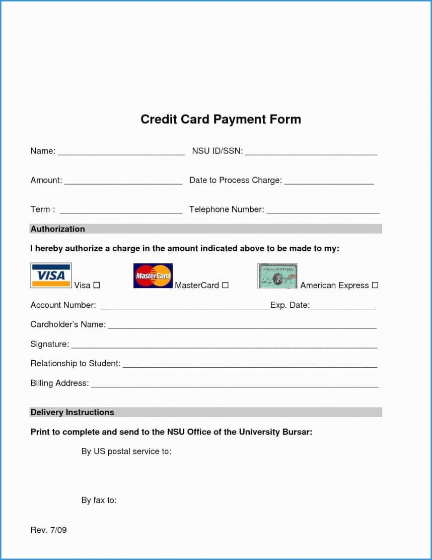 026 Template Ideas Credit Card Authorization Form Word Free Regarding Authorization To Charge Credit Card Template