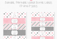 027 Free Water Bottle Label Template Ideas Delightful for Baby Shower Label Template For Favors