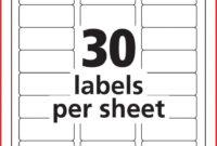 028 20Return Address Labels Template Per Sheet Label Free inside 3M Label Template