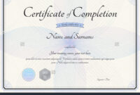 028 Template Ideas Certificate Of Completion Word Format For throughout Certificate Of Completion Free Template Word