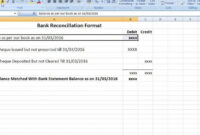 029 Template Ideas Bank Reconciliation Excel Spreadsheet intended for Business Bank Reconciliation Template