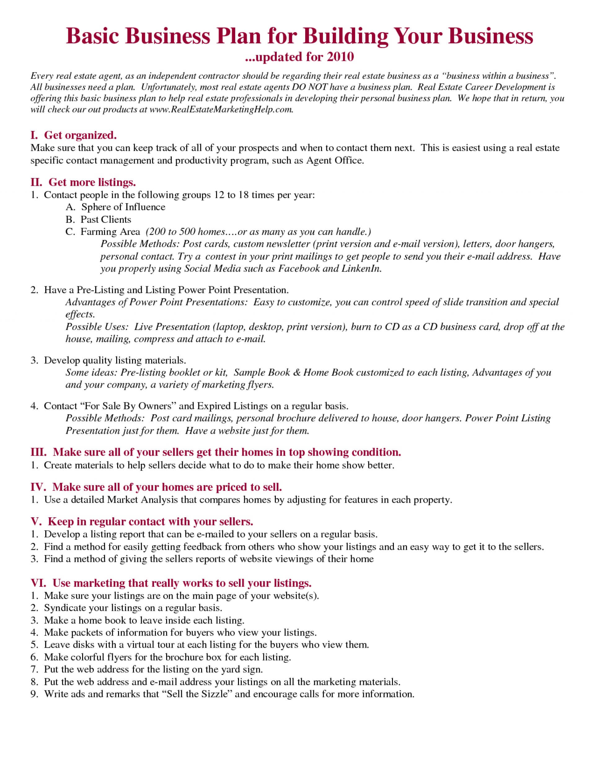 030 Real Estate Business Plan Template Ideas Fearsome Pdf For Business Plan Template For Real Estate Agents