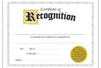 032 Template Ideas Microsoft Word Certificate Of with regard to Certificate Of Recognition Word Template