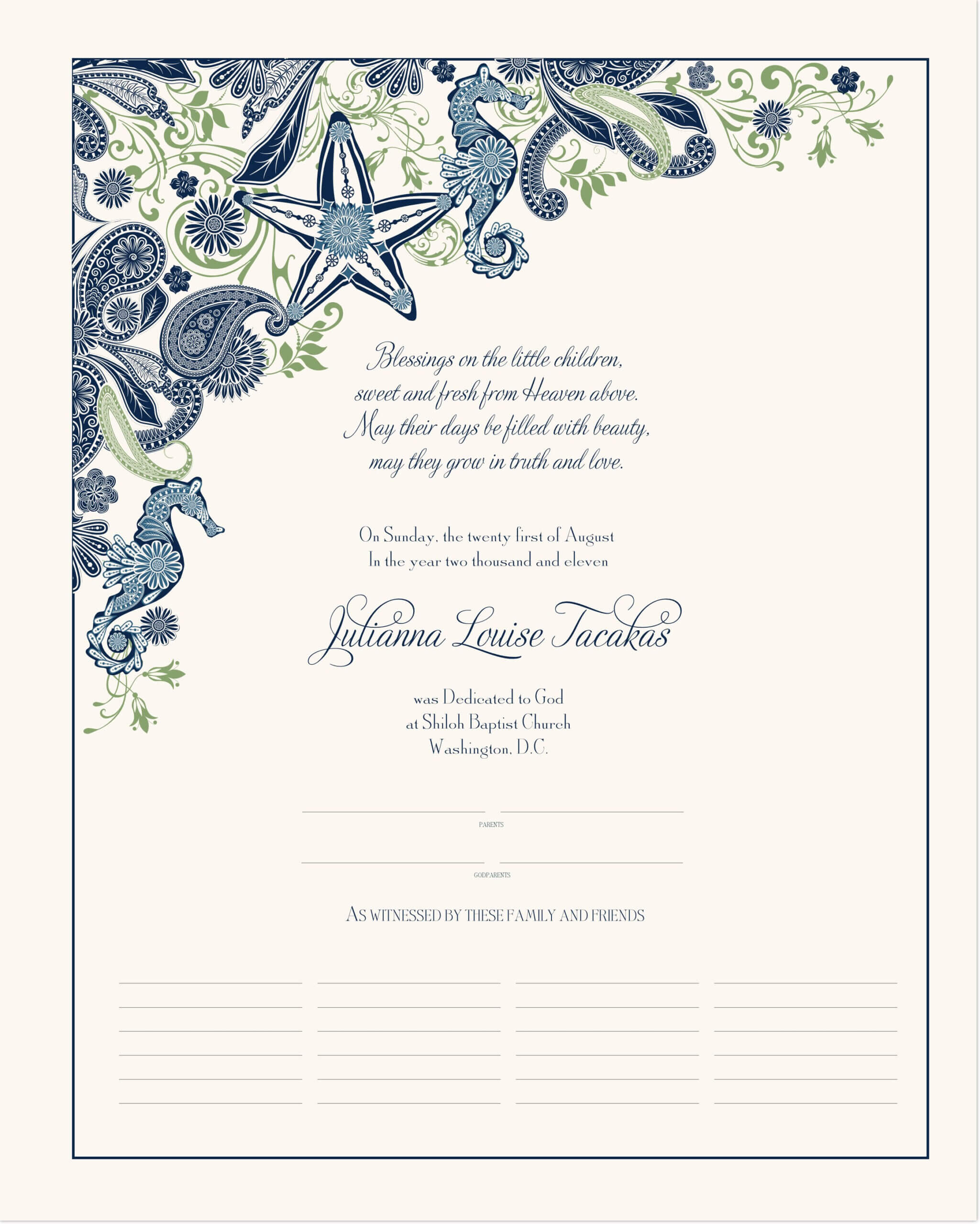 032 V Baby Dedication Certificate Template Free Archives As For Baby Dedication Certificate Template