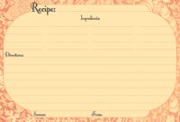 033 Free Printable Borders For Recipes Template Ideas Recipe intended for 4X6 Photo Card Template Free