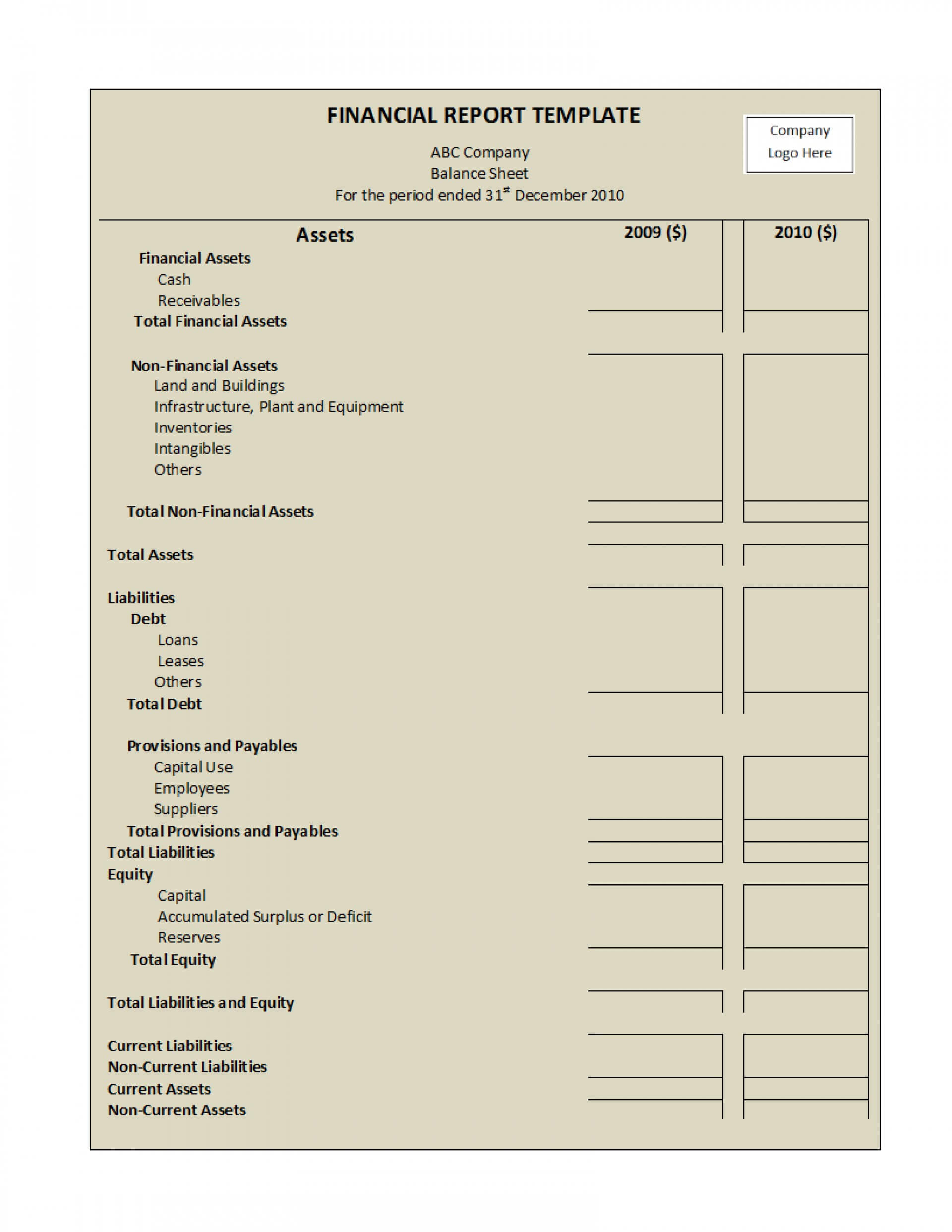035 Financial Report Template Excel Monthly Pdf Audit Word For Annual Financial Report Template Word