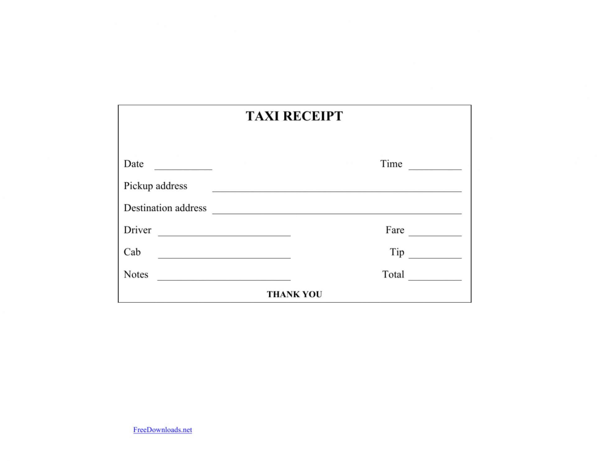 036 Blank Receipt Template Pdf Printablek Forms Sheets Cash Inside Blank Taxi Receipt Template
