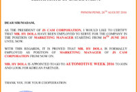 037 Employement Certificate Of Employment Template in Certificate Of Employment Template