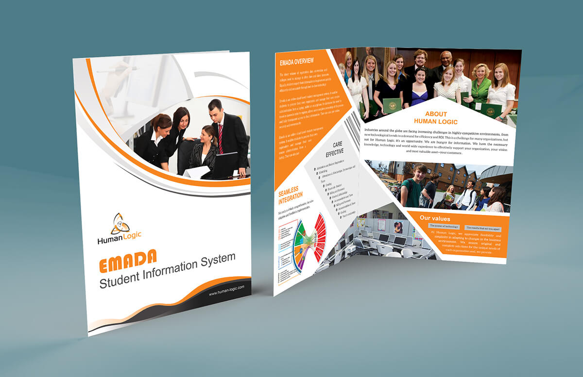038 Fold Brochure Template Free Download Psd Singular 2 Inside 2 Fold Brochure Template Free
